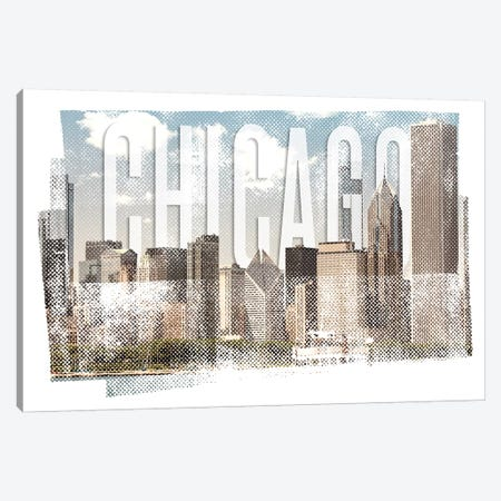 Chicago Skyline | Vintage Canvas Print #MEV368} by Melanie Viola Canvas Print