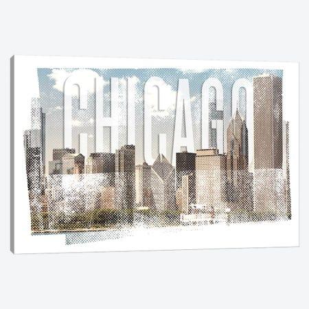 Chicago Skyline | Vintage Canvas Print #MEV368} by Melanie Viola Canvas Print