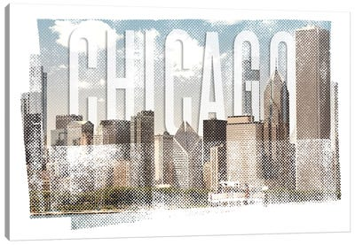 Chicago Skyline | Vintage Canvas Art Print