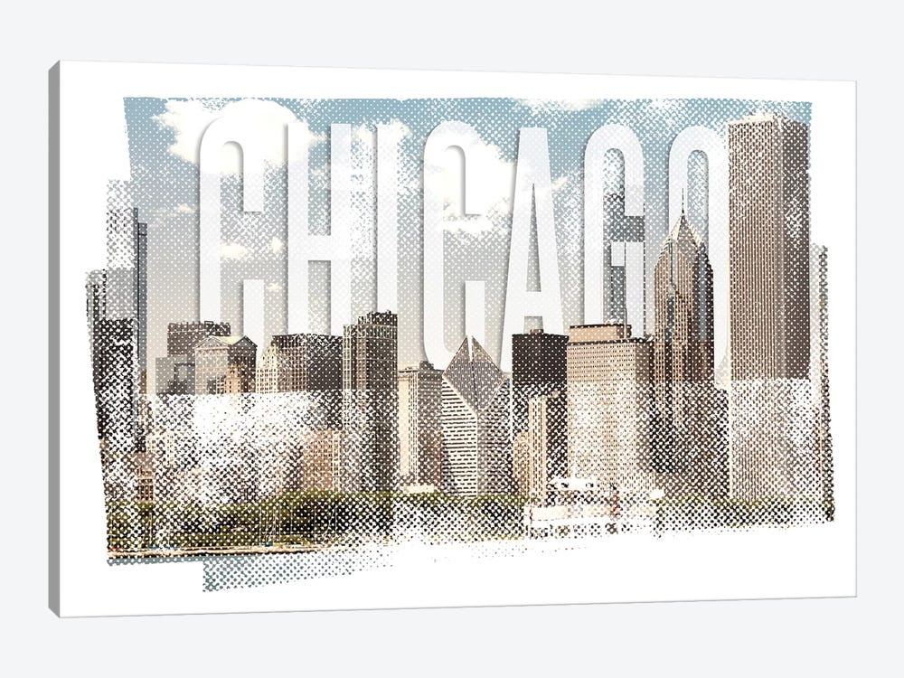 Chicago Skyline | Vintage by Melanie Viola 1-piece Canvas Artwork