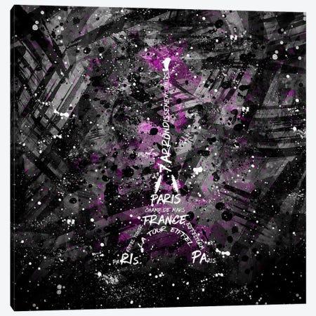 Digital Art Eiffel Tower Canvas Print #MEV36} by Melanie Viola Canvas Art