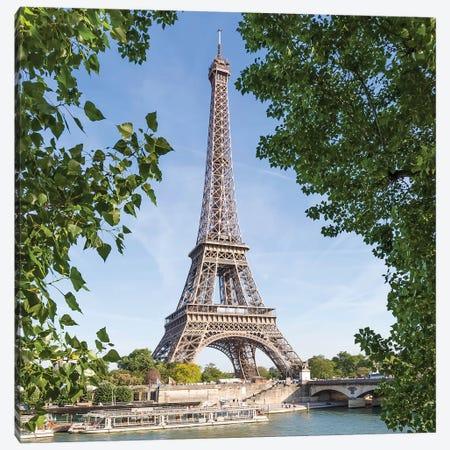 Paris Seine Riverside Canvas Print #MEV381} by Melanie Viola Art Print