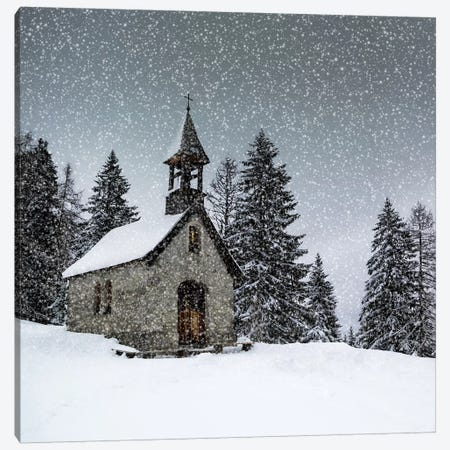 Bavarian Winters Tale Anna Chapel Canvas Print #MEV383} by Melanie Viola Canvas Art Print
