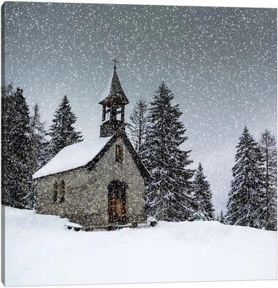 Bavarian Winters Tale Anna Chapel Canvas Art Print