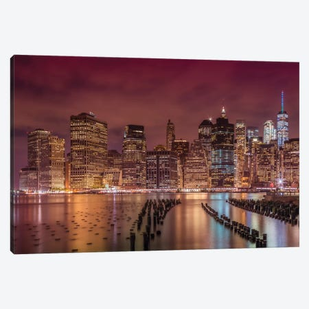 New York City Nightly Impressions Canvas Print #MEV384} by Melanie Viola Canvas Wall Art