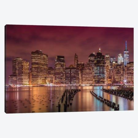 New York City Nightly Impressions Canvas Print #MEV384} by Melanie Viola Canvas Wall Art