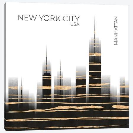 Urban Art NYC Skyline Canvas Print #MEV386} by Melanie Viola Canvas Art