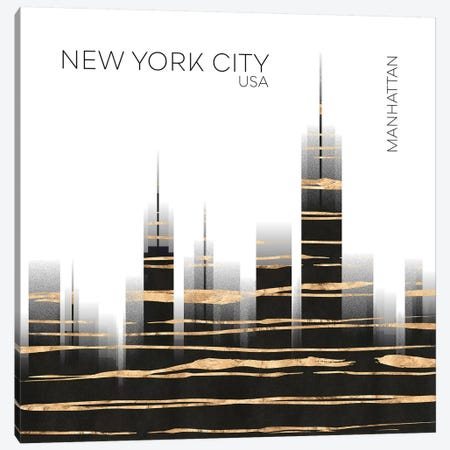 Urban Art NYC Skyline Canvas Print #MEV386} by Melanie Viola Canvas Art