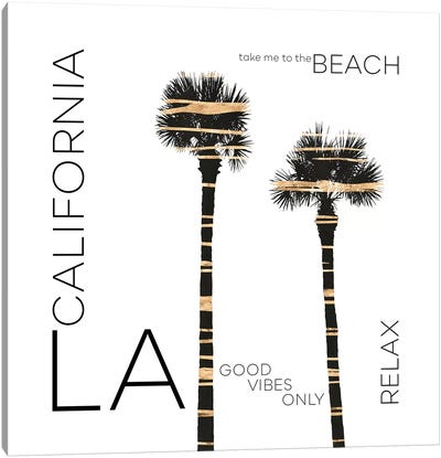 Urban Art LA Palm Trees Canvas Art Print