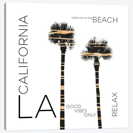 Urban Art LA Palm Trees Canvas Print #MEV388} by Melanie Viola Art Print