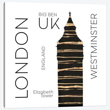 Urban Art London Big Ben Canvas Print #MEV389} by Melanie Viola Canvas Art Print