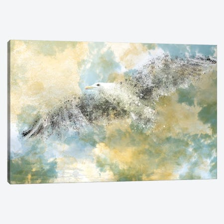Digital Art Vanishing Seagull Canvas Print #MEV38} by Melanie Viola Canvas Print