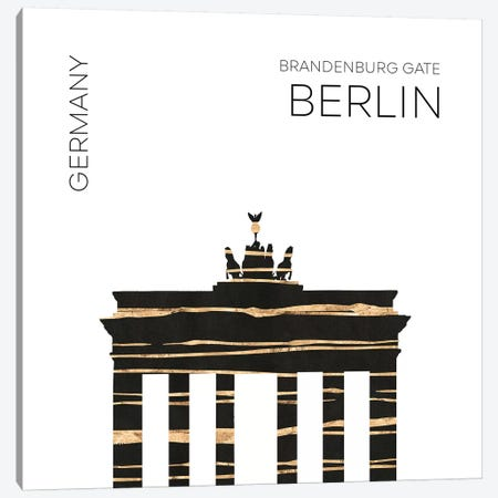 Urban Art Berlin Brandenburg Gate Canvas Print #MEV392} by Melanie Viola Canvas Artwork