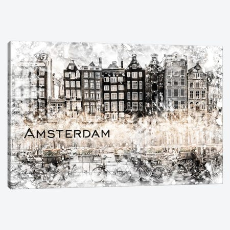 Amsterdam Collage Canvas Print #MEV393} by Melanie Viola Canvas Artwork