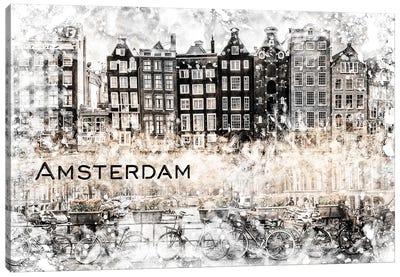 Amsterdam Collage Canvas Art Print