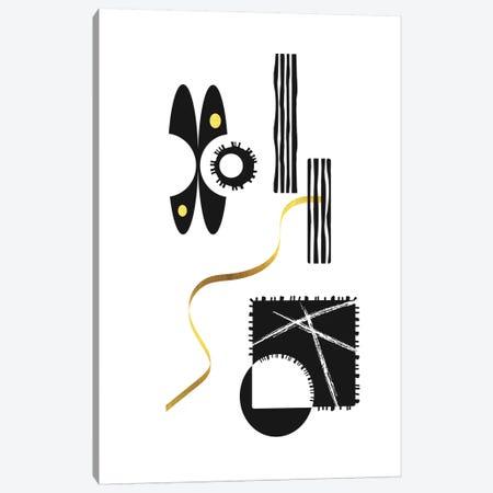 Black & White Abstract No. 3   Gold Canvas Print #MEV404} by Melanie Viola Canvas Print