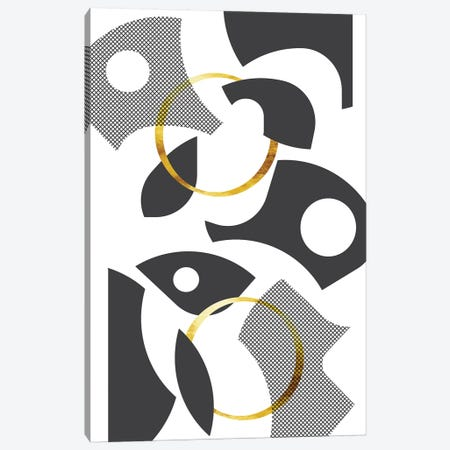 Cut Out Abstract No. 1   Gold 3-Piece Canvas #MEV405} by Melanie Viola Canvas Print