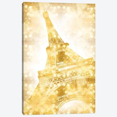 Eiffel Tower - Golden Illusion Canvas Print #MEV40} by Melanie Viola Canvas Artwork