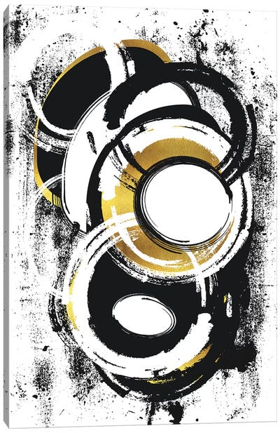 Abstract Painting No. 1 | Gold Canvas Art Print