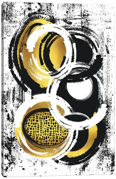 Abstract Painting No. 2 | Gold Canvas Art Print