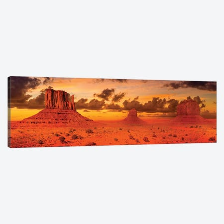 Gorgeous Monument Valley In The Evening Canvas Print #MEV413} by Melanie Viola Art Print