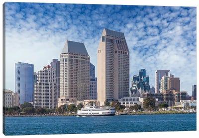 San Diego City Skyline Canvas Art Print