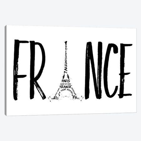 France Typography Canvas Print #MEV43} by Melanie Viola Canvas Art
