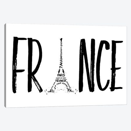 France Typography Canvas Print #MEV43} by Melanie Viola Canvas Art
