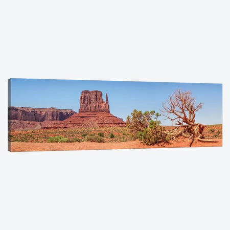 Monument Valley Sentinel Mesa & West Mitten Butte Canvas Print #MEV447} by Melanie Viola Canvas Print