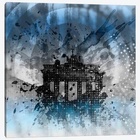 Graphic Art Brandenburg Gate Canvas Print #MEV44} by Melanie Viola Art Print