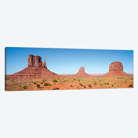 Fascinating Monument Valley | Panoramic View 3-Piece Canvas #MEV452} by Melanie Viola Canvas Print