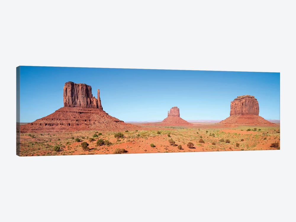 Fascinating Monument Valley | Panoramic View by Melanie Viola 1-piece Canvas Wall Art