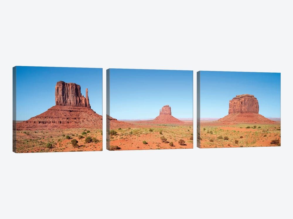 Fascinating Monument Valley | Panoramic View by Melanie Viola 3-piece Canvas Artwork