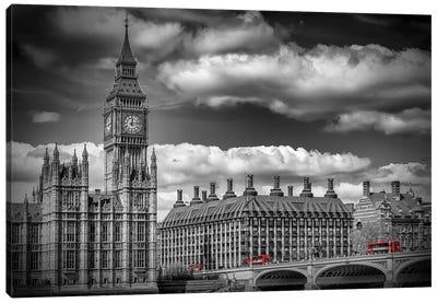 London Big Ben & Red Bus Canvas Art Print