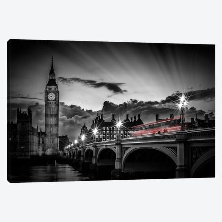 London Westminster Bridge At Sunset Canvas Print #MEV455} by Melanie Viola Canvas Art