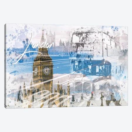 City Art Westminster Collage Canvas Print #MEV456} by Melanie Viola Canvas Artwork