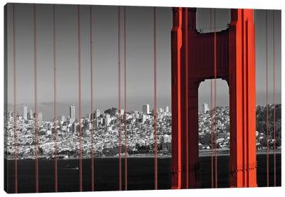 Golden Gate Bridge In Detail Canvas Art Print