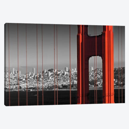 Golden Gate Bridge In Detail Canvas Print #MEV459} by Melanie Viola Art Print