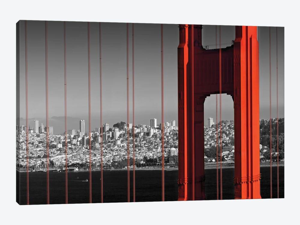 Golden Gate Bridge In Detail by Melanie Viola 1-piece Art Print