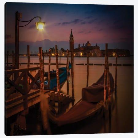 Venice Gondolas During Sunrise Canvas Print #MEV461} by Melanie Viola Canvas Art