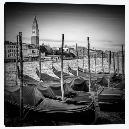 Venice Grand Canal | Monochrome Canvas Print #MEV463} by Melanie Viola Canvas Wall Art