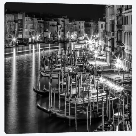 Venice View From Rialto Bridge | Monochrome 3-Piece Canvas #MEV464} by Melanie Viola Canvas Print