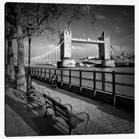 London Thames Riverside & Tower Bridge Canvas Print #MEV466} by Melanie Viola Canvas Print