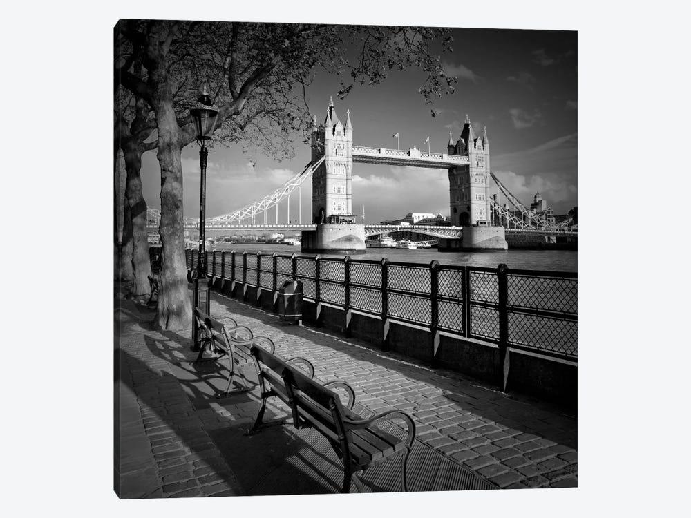 London Thames Riverside & Tower Bridge by Melanie Viola 1-piece Art Print