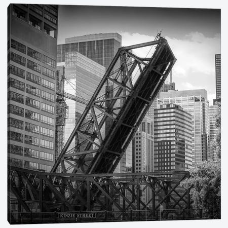 Chicago Kinzie Street Railroad Bridge Canvas Print #MEV468} by Melanie Viola Canvas Art