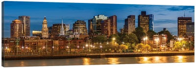 Boston North End & Financial District | Panoramic Canvas Art Print