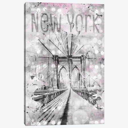 Graphic Art New York City Brooklyn Bridge Canvas Print #MEV47} by Melanie Viola Art Print