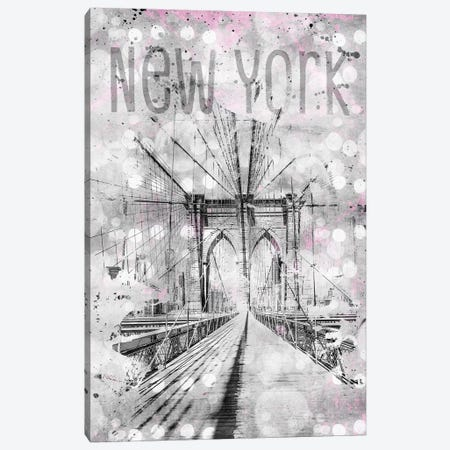 Graphic Art New York City Brooklyn Bridge Canvas Print #MEV47} by Melanie Viola Art Print