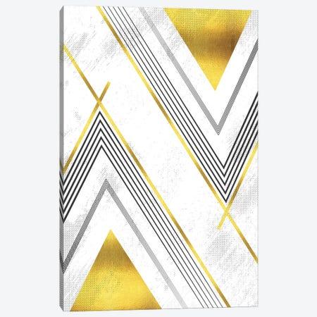 Geometric Art No. 5 Gold Canvas Print #MEV486} by Melanie Viola Art Print