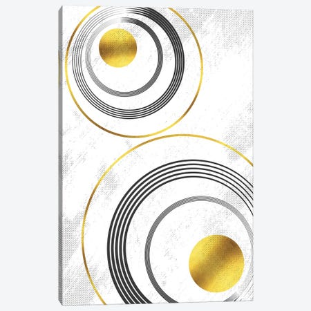 Geometric Art No. 7 Gold Canvas Print #MEV487} by Melanie Viola Art Print